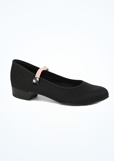 Freed RAD Low Heel Canvas Character Shoe Black. [Black]