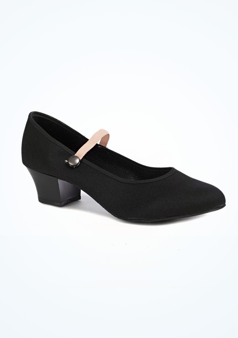 Freed RAD Cuban Heel Canvas Character Shoe Black. [Black]