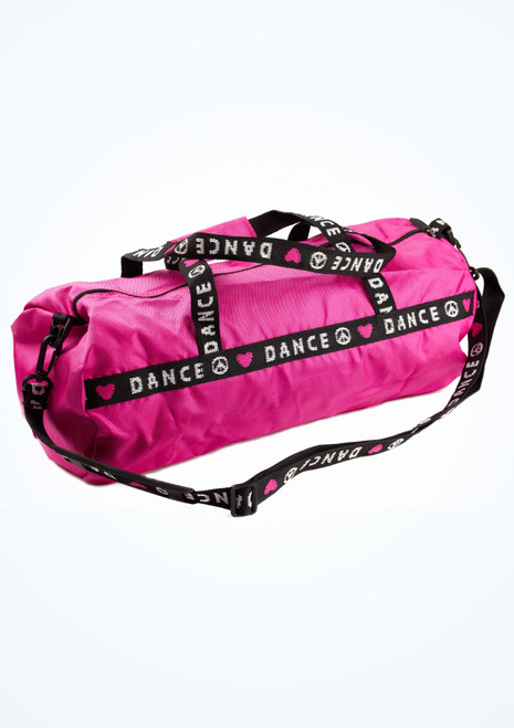 Capezio Heart Duffle Bag Pink front. [Pink]