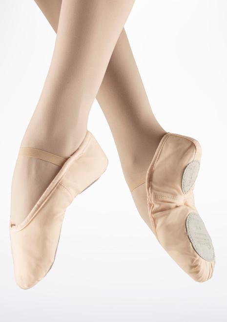 Sansha Tutu Split Sole Canvas Ballet Shoe Pink. [Pink]