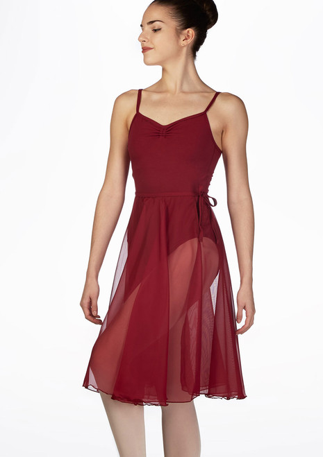 Freed Repertoire Georgette Dance Skirt Red front. [Red]