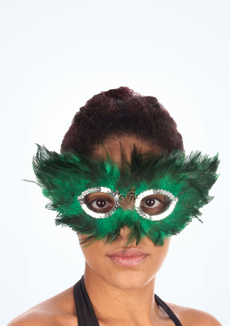 Feather Eyemask Green. [Green]
