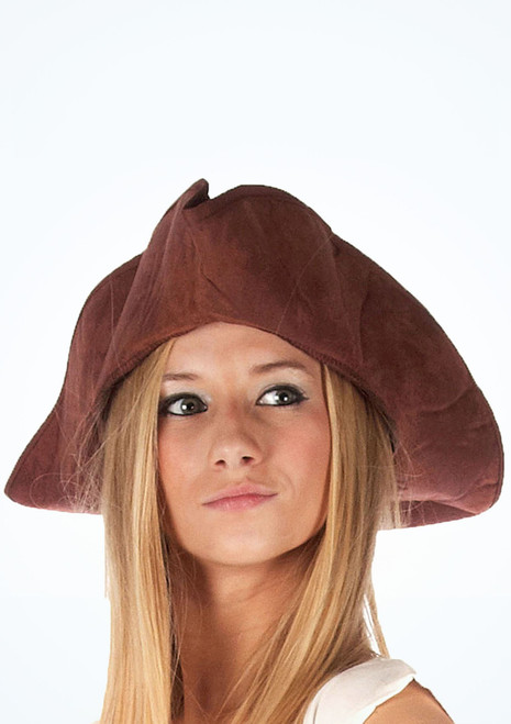 Distressed Pirate Hat Brown. [Brown]