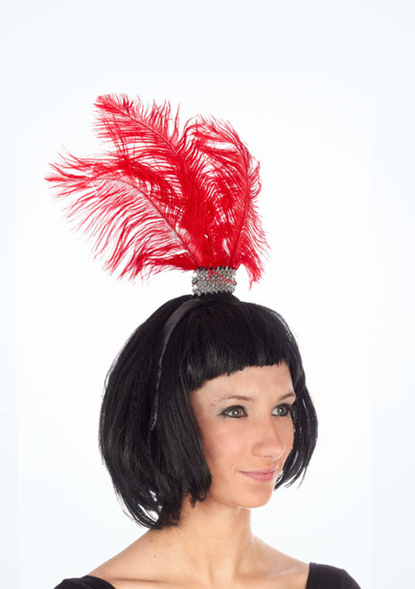 Flapper Headband Red. [Red]