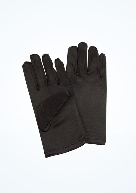 Child Satin Gloves Black [Black]
