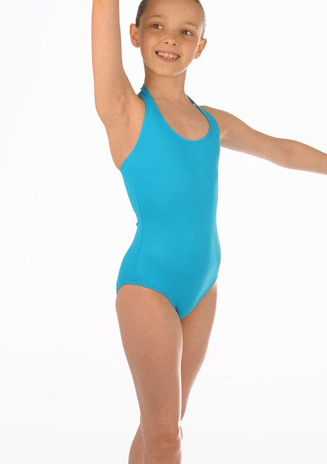 Move Dance Imogen Leotard Blue. [Blue]