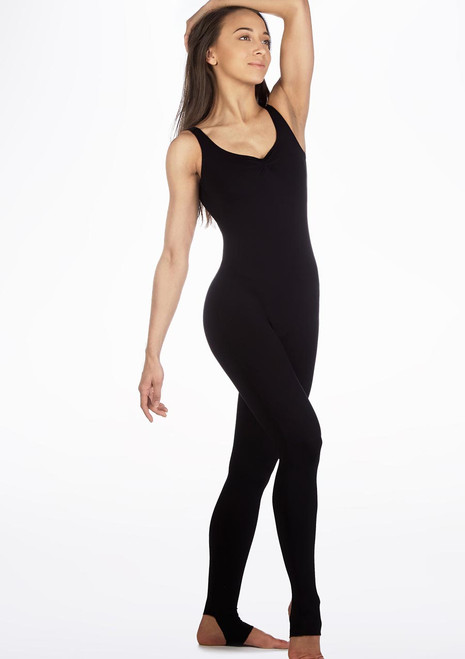 Move Gracie Catsuit Black front. [Black]
