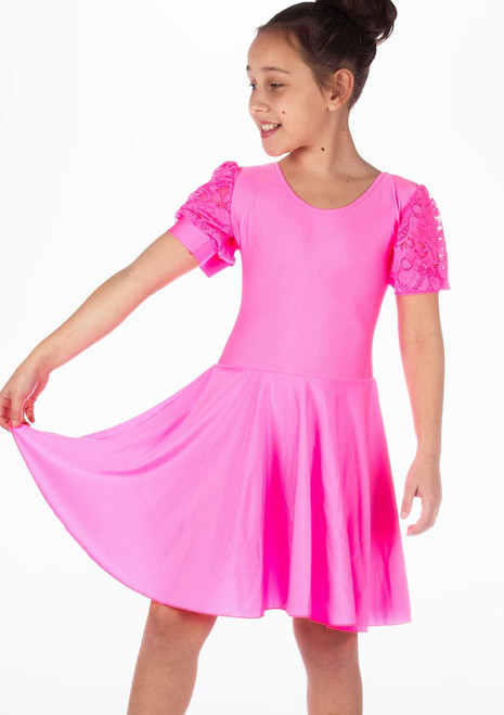 Move Girl's Rebecca Latin Dress Pink Childrens Ballroom Shoes [Pink]