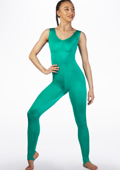 Alegra Shiny Deanna Catsuit Green main image. [Green]