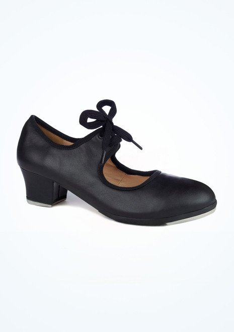 Move Cincinatti Leather Tap Shoe Black. [Black]