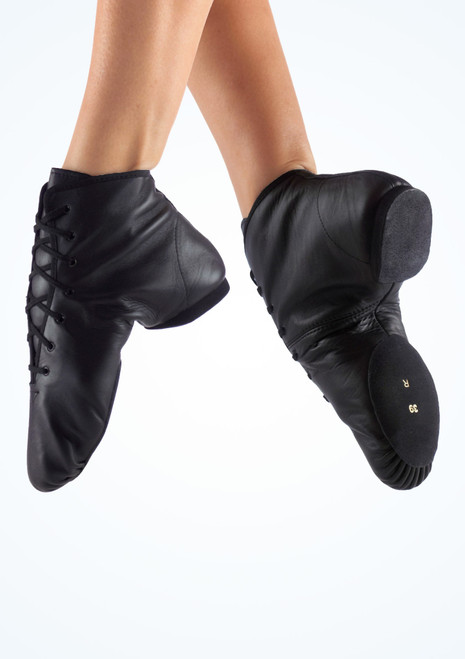 Merlet Galaxy Boot Split Sole Jazz Shoe Black. [Black]