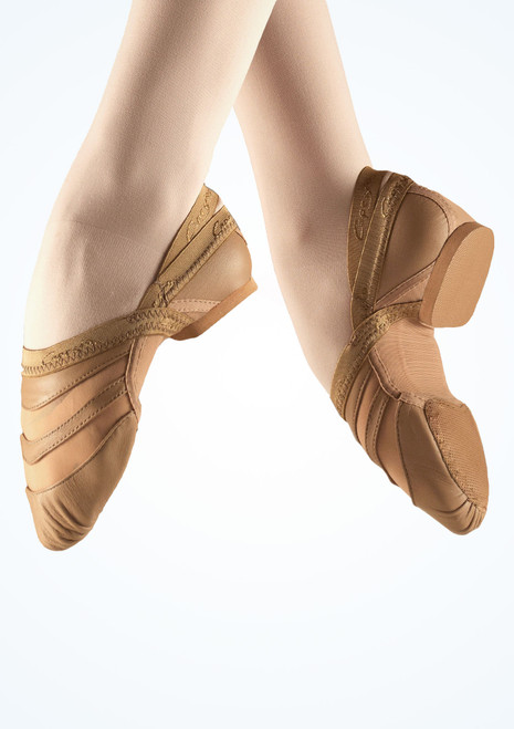 Capezio Freeform EVA Split Sole Jazz Shoe Tan. [Tan]