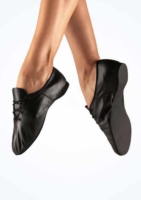 Alegra Orleans Full Sole Jazz Shoe Black. [Black]