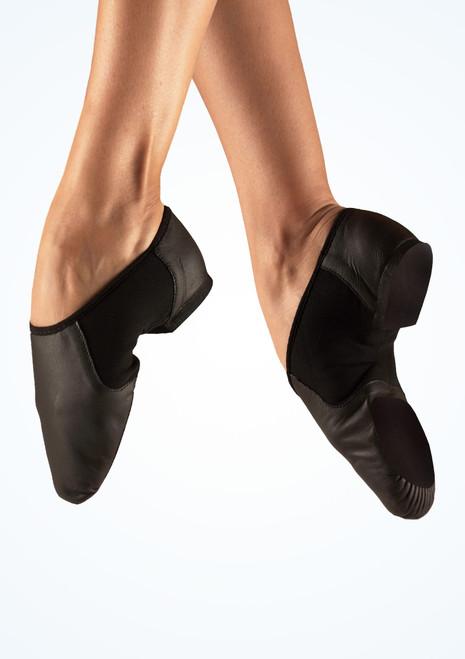 Move Illusion Split Sole Jazz Shoe Black main image. [Black]