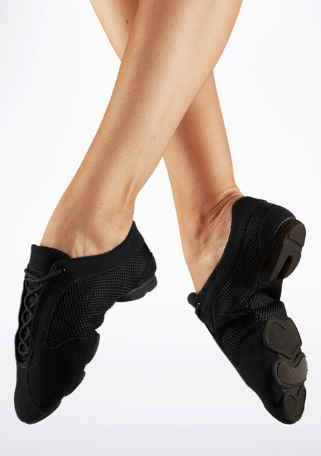 Move Premium Sneaker Style Split Sole Jazz Shoe Black main image. [Black]