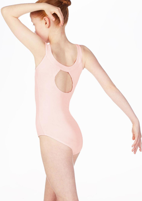 Move Terri Yoke Neck Leotard Pink. [Pink]