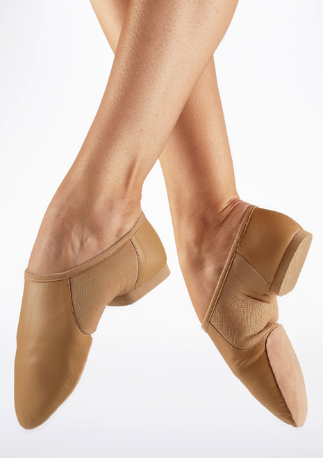 Move Illusion Split Sole Jazz Shoe Tan. [Tan]