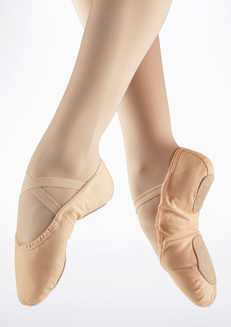 Alegra Split Sole Canvas Ballet Shoe Pink. [Pink]