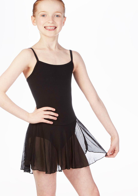 Move Dance Kacey Skirted Leotard Black front. [Black]