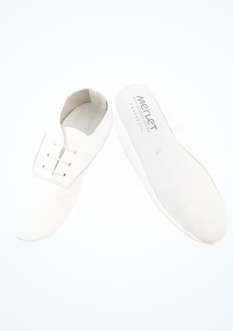 Merlet Jazzy Full Sole Jazz Shoes White main image. [White]
