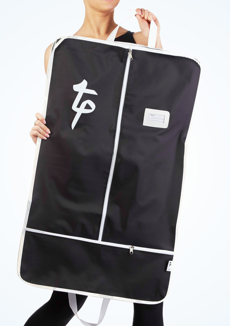 Tappers and Pointers Costume Carrier Garment Bag Black front. [Black]