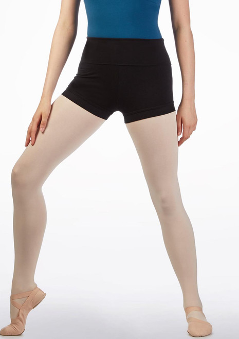 Move Avie Teen Dance Short Black front. [Black]