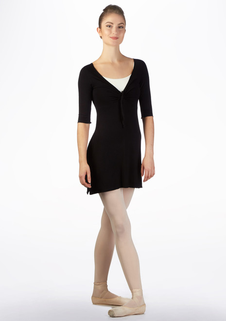 Ballet Rosa Pinch Ballet Dress Black front. [Black]
