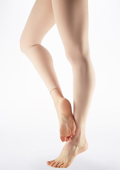 Grishko Raw Hem Footless Dance Tights Pink main image. [Pink]