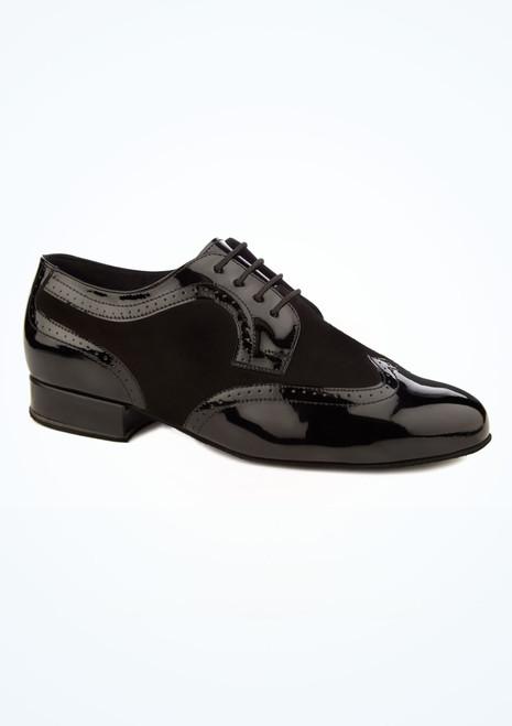 Diamant Mens Suede and Patent Ballroom Shoe Black main image. [Black]