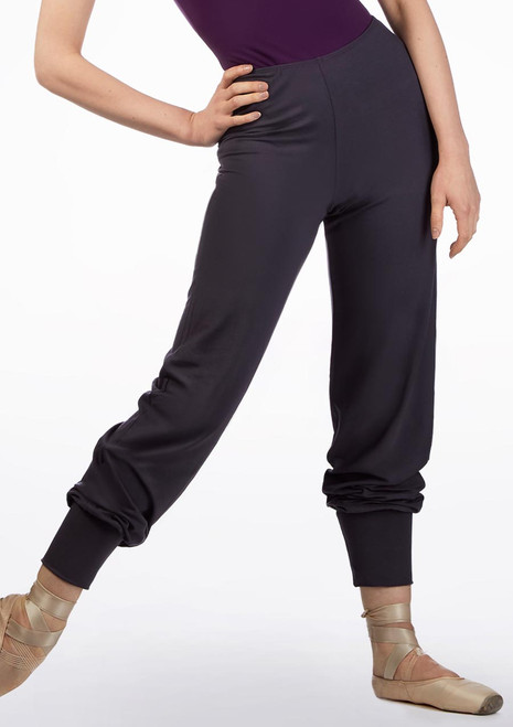 Ballet Rosa Tapered Bamboo Pants Grey front. [Grey]