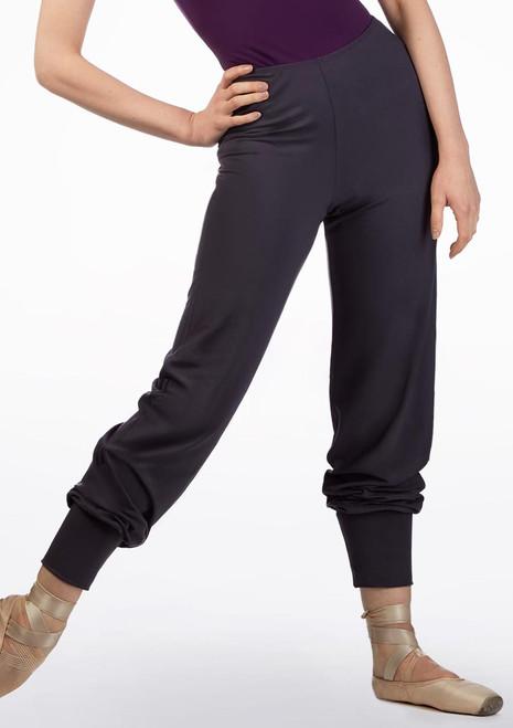 Ballet Rosa Tapered Bamboo Pants Grey front. [Grey]