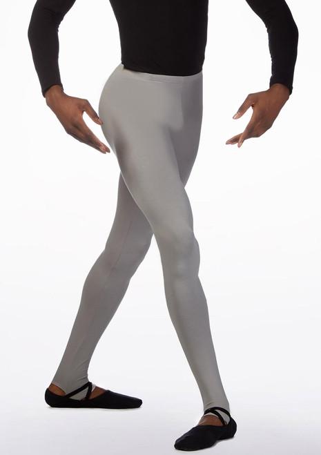 Ballet Rosa Mens Stirrup Tights Grey front. [Grey]