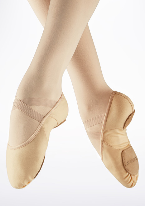 Capezio Hanami Split Sole Canvas Ballet Shoe Pink main image. [Pink]