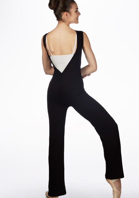 Ballet Rosa Open Back Unitard Grey front. [Grey]