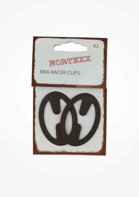 Racerback Bra Clips 2 Pack Black front. [Black]