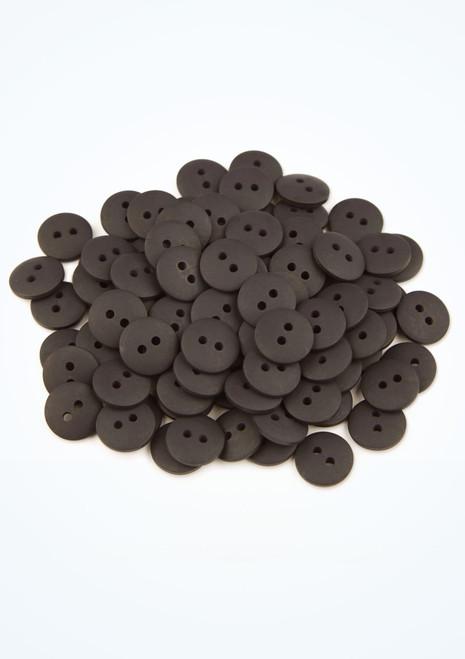 Coloured Buttons 100 Pieces Black front. [Black]