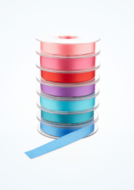 Double Satin Ribbon 15mm x 20m Blue main image. [Blue]