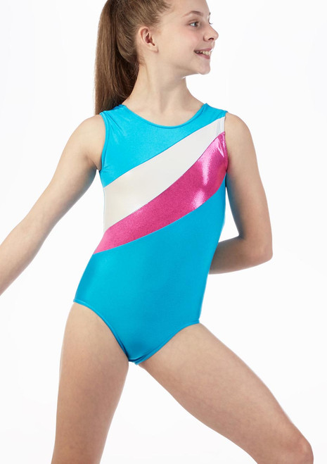 Alegra Fizz Gymnastics Leotard Blue front. [Blue]