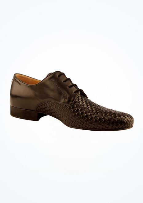 Werner Kern Mens Weave Effect Ballroom Shoes Black main image. [Black]