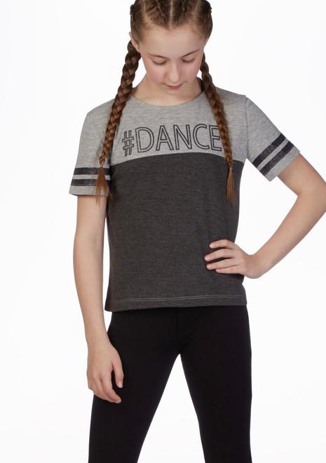 Move Dance Hashtag T-Shirt Gray Grey front. [Grey]