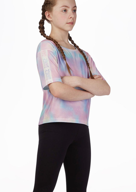 Move Dance Crop T-Shirt Multicolor Multi-Colour front. [Multi-Colour]