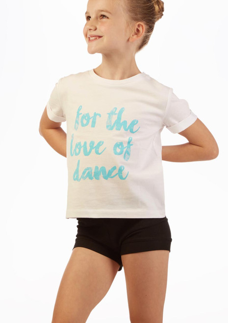 Move Dance 'Love Dance' Slogan T-Shirt White front. [White]