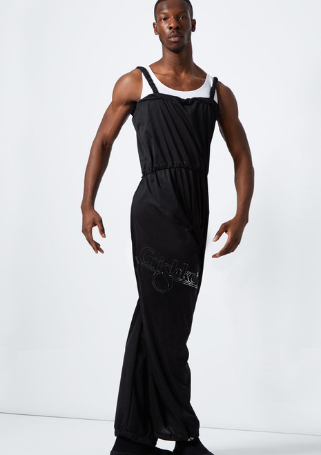 Grishko Mens Heat Retention Warm Up Suit Black front. [Black]