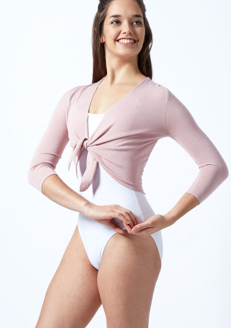 Move Dance Aria Ballet Cardigan Pink front. [Pink]