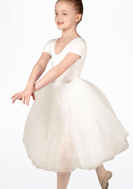 Leo's Girls Soft Tulle Juliet Tutu Skirt White. [White]