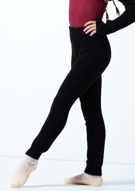 Intermezzo Teen High Waisted Knitted Pant Black Front-1 [Black]