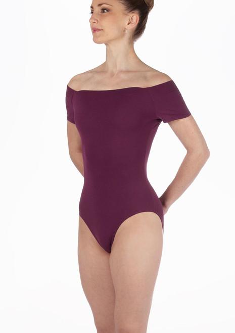 Repetto Avances Cap Sleeve Leotard Purple. [Purple]