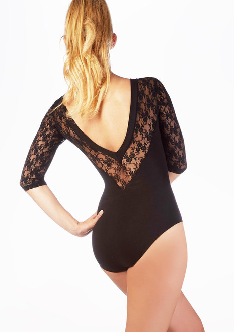 Intermezzo Lace Leotard Black. [Black]