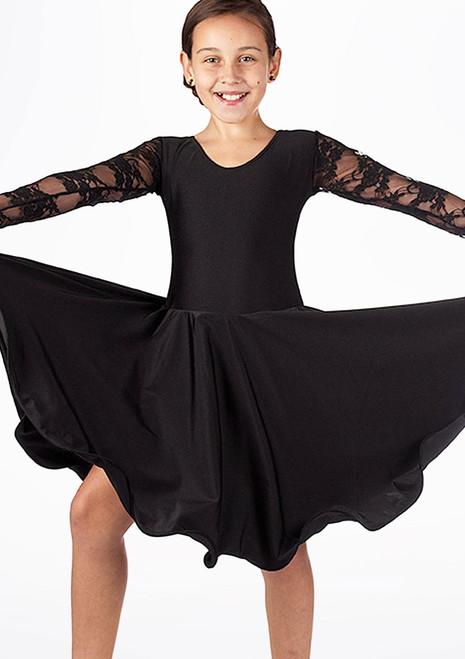 Move Girl's Saffron Ballroom Dress Black. [Black]