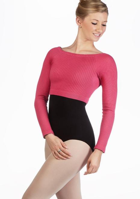 Gaynor Minden Bamboo Crop Top Pink main image. [Pink]